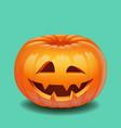 halloween pumpkin face - creepy smile jack o vector image vector image