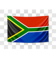 hanging flag south africa republic south vector image vector image