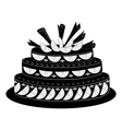 Holiday pie silhouette vector image vector image