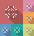 Icon of power button Flat style vector image vector image