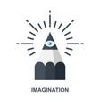 imagination icon concept vector image vector image