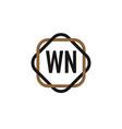 initial letter wn elegance logo design template vector image vector image