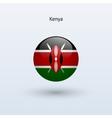 Kenya round flag vector image