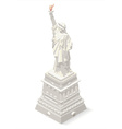 Liberty Statue Landmarks Isometric vector image vector image