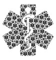 life star icon shape vector image vector image
