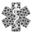 life star icon shape vector image