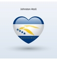 Love Johnston Atoll symbol Heart flag icon vector image vector image