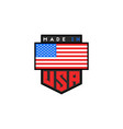 made in usa logo design american quality vector image vector image