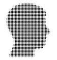 man head profile halftone icon vector image