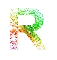 Music theme grungy font Letter R vector image vector image