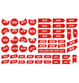 new label sticker newest angle tag sales banner vector image
