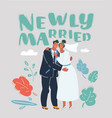 newly married couple vector image vector image