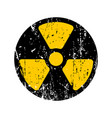 old sign radioactive danger shabby retro toxic vector image