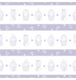 pastel purple striped cacti repeat pattern vector image vector image