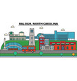 raleigh north carolina city skyline architecture vector image vector image