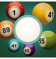 retro bingo lottery ball background vector image