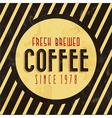 Retro Vintage Coffee Background vector image vector image