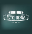 retro vintage design elements business signs vector image vector image