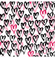 seamless heart abstract pattern vector image vector image