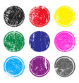 set multicolored post stamps with grunge vector image