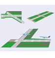 Set Runways vector image vector image