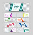set white horizontal web banners with place vector image vector image
