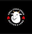 sheep logo mutton lamb meat vector image vector image