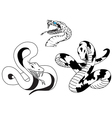 Snake tattoo vector image