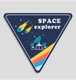 space explorer meteor satellite dish triangle fram vector image