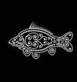 stylized carp image maori ornament decorative vector image