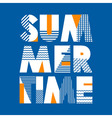 Summer Time T-shirt Typography vector image vector image