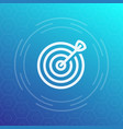 target with arrow icon in linear style vector image vector image