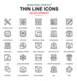 thin line web design and development icons set vector image vector image