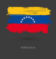 venezuela colorful brush flag vector image