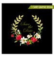 Vintage Floral Graphic Design Summer Rose vector image vector image