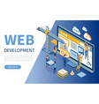 web development developers optimizations of sites vector image