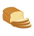 white bread slices vector image