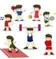 Isolated cartoon sport set vector image