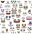 monster faces seamless vector image