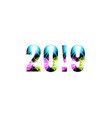 2019 - year number shining background glow effect vector image