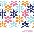 abstract colorful stars horizontal frame vector image vector image