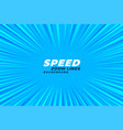 abstract comic zoom speed lines background vector image