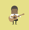african businessman playing guitar vector image