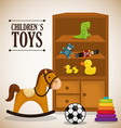 Baby toys design vector image vector image