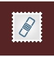 Band Aid medical stamp vector image