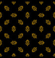 bee dark seamless pattern in thin line vector image vector image
