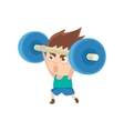 Boy Sportsman Weight Lifting Part Of Child Sports vector image vector image