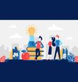 brainstorm business concept for teamwork vector image