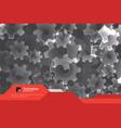 brochure design template gear technology vector image