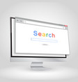 browser window on white background vector image